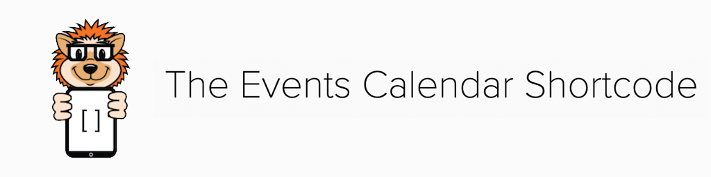 The Events Calendar Shortcode PRO options