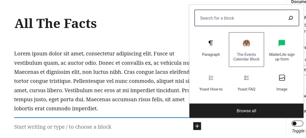 gutenberg new content block